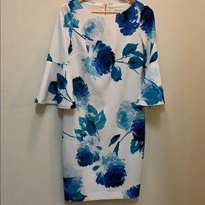 Calvin Klein watercolor floral dress